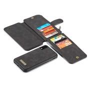 CaseMe 2 in 1 Zipper Wallet iPhone 11 Pro Max Zwart