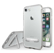 Colorfone iPhone 8 Plus and 7 Plus Case Silver Transparent - Kickstand