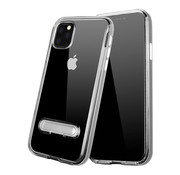 Colorfone iPhone 11 Pro Max Case Silver Transparent - Kickstand