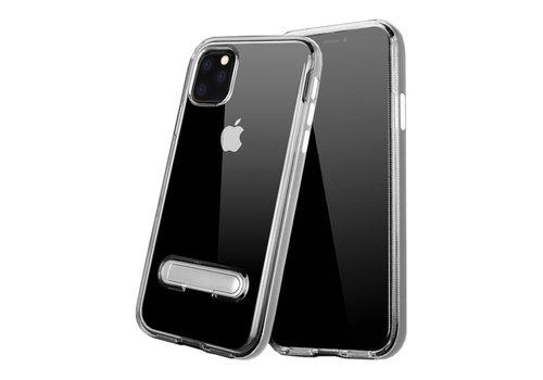 Kickstand iPhone 11 Pro Max (6.5) Transparant Zilver