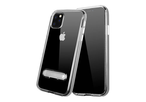 Kickstand iPhone 11 Pro Max (6.5) Transparent Silver