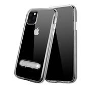 Colorfone iPhone 11 Pro Case Silver Transparent - Kickstand