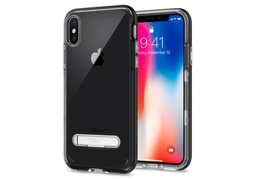 Kickstand iPhone Xr Transparant Zwart
