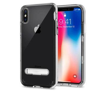 Colorfone Kickstand iPhone Xs Max Transparant Zilver