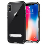 Colorfone iPhone X and Xs Case Black Transparent - Kickstand