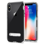 Colorfone iPhone X and Xs Case Silver Transparent - Kickstand