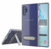 Colorfone Samsung Note 10 Case Silver Transparent - Kickstand