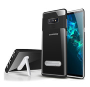 Colorfone Samsung S10 Case Black Transparent - Kickstand
