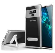 Colorfone Samsung S10 Case Silver Transparent - Kickstand