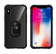 Colorfone Ring iPhone Xr Transparant Zwart