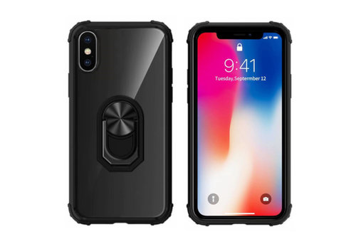 Ring iPhone Xr Transparant Zwart