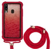 Colorfone Samsung A20 and Samsung A30 Case Red with cord