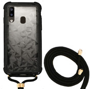 Colorfone Samsung A60 Case Black with cord