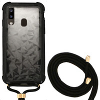 Backcover Shockproof Cord 3D PC for Samsung A40 Black