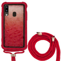 Backcover Shockproof Cord 3D PC for Samsung A40 Red
