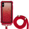 Colorfone Backcover Shockproof Koord 3D PC  voor Apple iPhone Xs Max Rood
