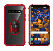 Colorfone Samsung S10 Red Transparent - Ring