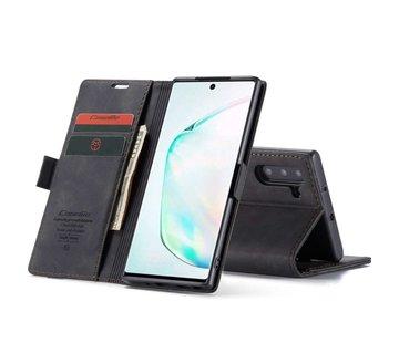 CaseMe Retro Wallet Slim voor Note 10 Zwart