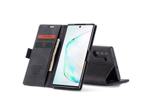 Retro Wallet Slim for Note 10 Black
