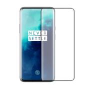 Colorfone OnePlus 7T Pro Screenprotector Glas Curved - zwarte rand