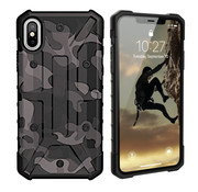 Colorfone iPhone Xs Max Case Black Transparent - Shockproof Army