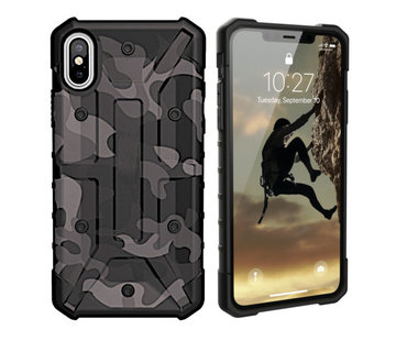 Colorfone iPhone Xs Max Hoesje Transparant Zwart - Army