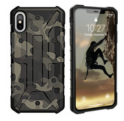 Colorfone iPhone Xs Max Case Transparent Green - Shockproof Army