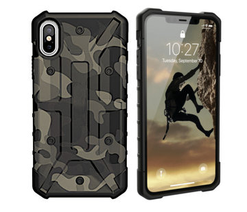 Colorfone iPhone Xs Max Hoesje Transparant Groen - Army