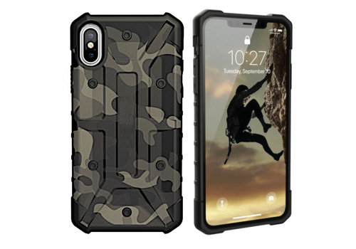 iPhone Xs Max Hoesje Transparant Groen - Army