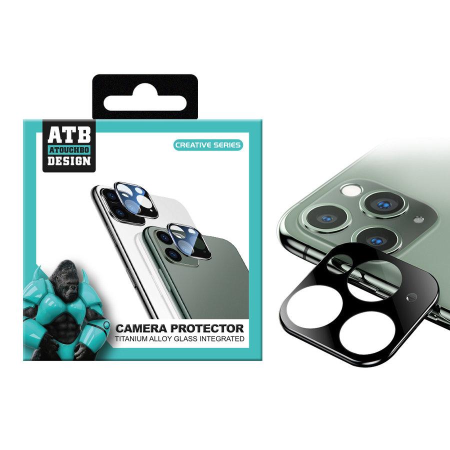 ATB Design Kameraobjektivschutz aus Titan und gehärtetem Glas für iPhone 11 Pro/11 Pro Max Schwarz