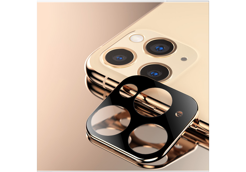 Titanium + Tempered Glass Camera Lens Protector iPhone 11 Pro - 11 Pro Max Gold