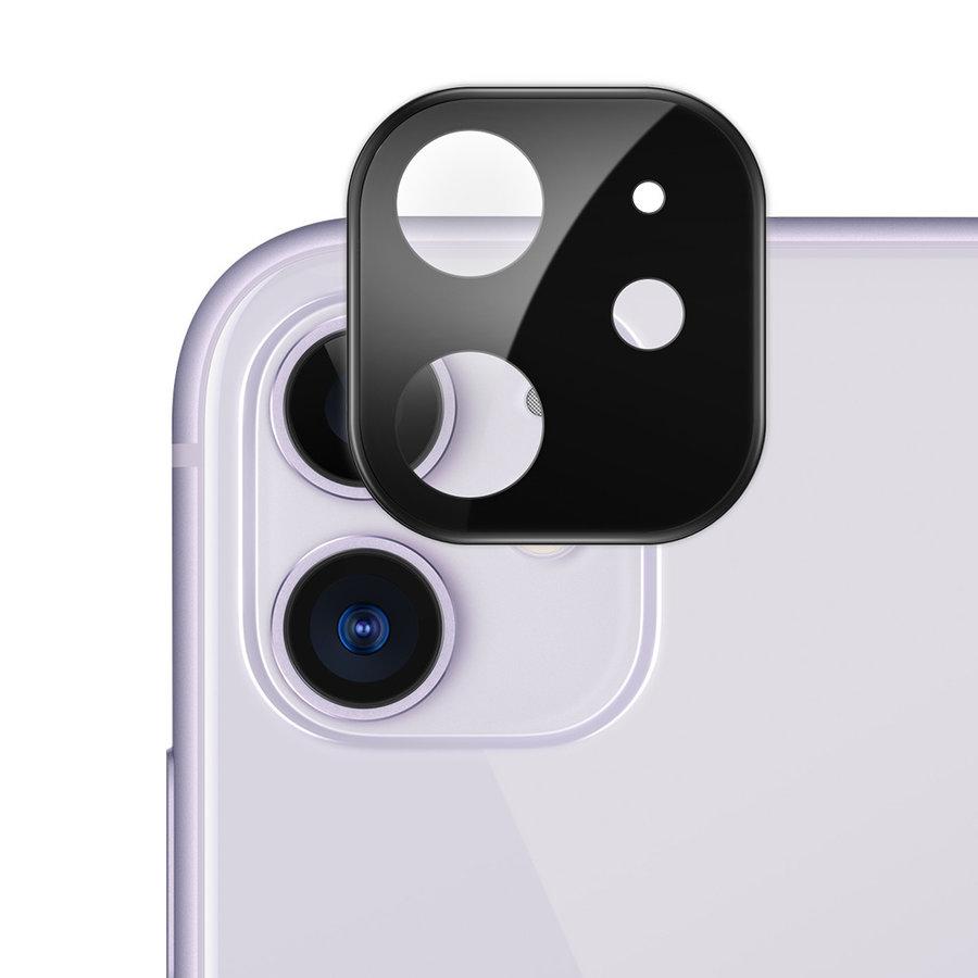 Kameraobjektivschutz aus Titan und gehärtetem Glas für iPhone 11 Schwarz