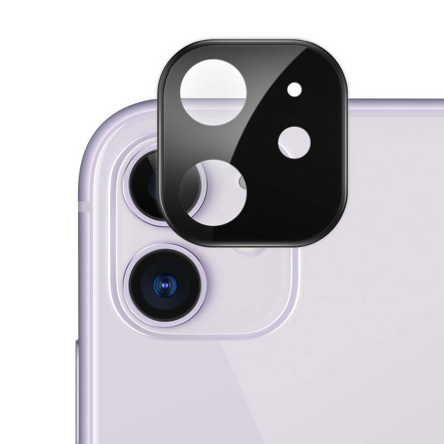 ATB Design Titanium + Tempered Glass Camera Lens Protector iPhone 11 Black