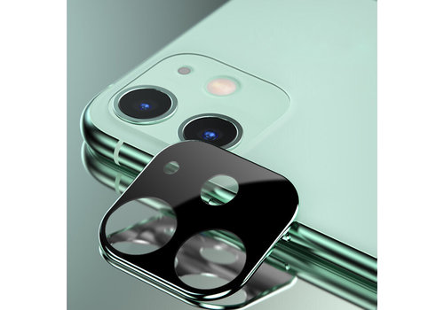 Titanium + Tempered Glass Camera Lens Protector iPhone 11 Groen