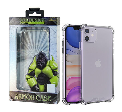 Atouchbo iPhone 11 Hoesje Transparant - Anti-Shock