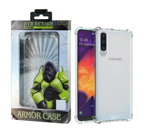Atouchbo Samsung A40 Hoesje Transparant - Anti-Shock