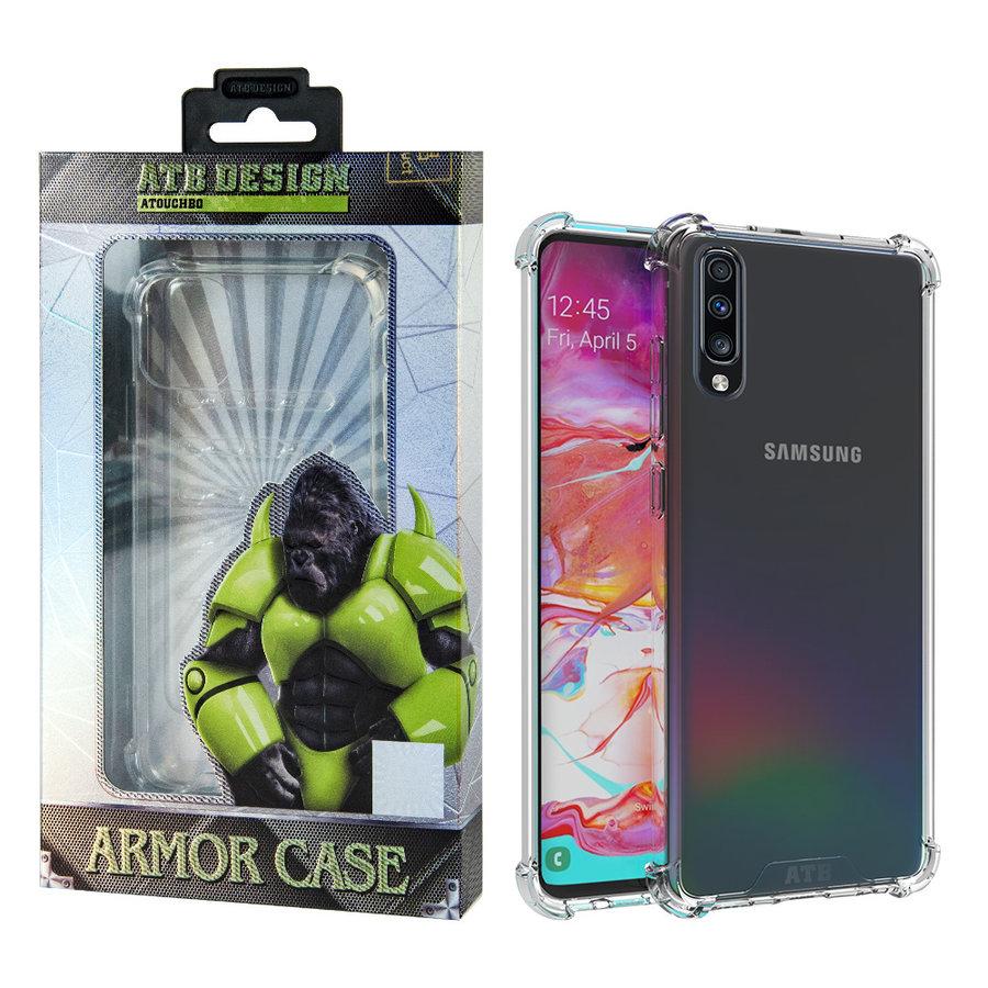 Samsung A70 Hoesje Transparant - Anti-Shock