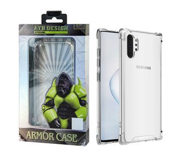Atouchbo Samsung Note 10 Plus Hoesje Transparant - Anti-Shock