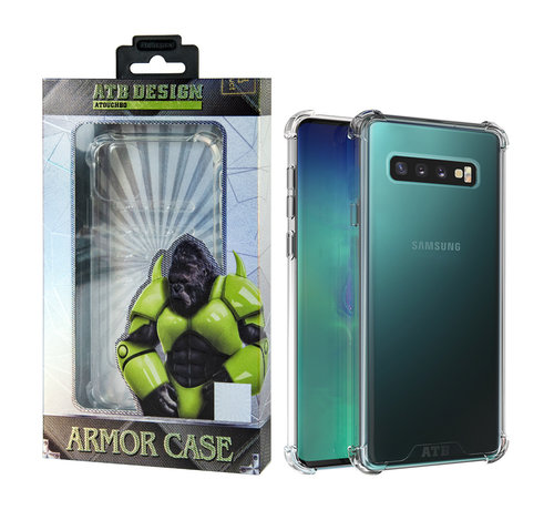 Atouchbo Samsung S10 Plus Hoesje Transparant - Anti-Shock