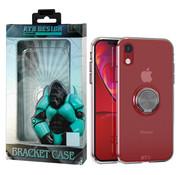 Atouchbo iPhone Xr Hoesje Transparant met Ring en Magneet
