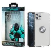 Atouchbo iPhone 11 Pro Hoesje Transparant met Ring en Magneet