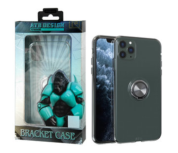 Atouchbo iPhone 11 Pro Max Hoesje Transparant met Ring en Magneet