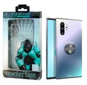 Atouchbo Samsung Note 10 Plus Hoesje Transparant met Ring en Magneet