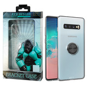 Atouchbo Samsung S10 Case Transparent with Ring and Magnet