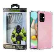 Atouchbo Samsung A71 Hoesje Transparant - Anti-Shock