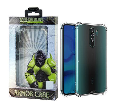 Atouchbo Redmi Note 8 Pro Hoesje Transparant - Anti-Shock