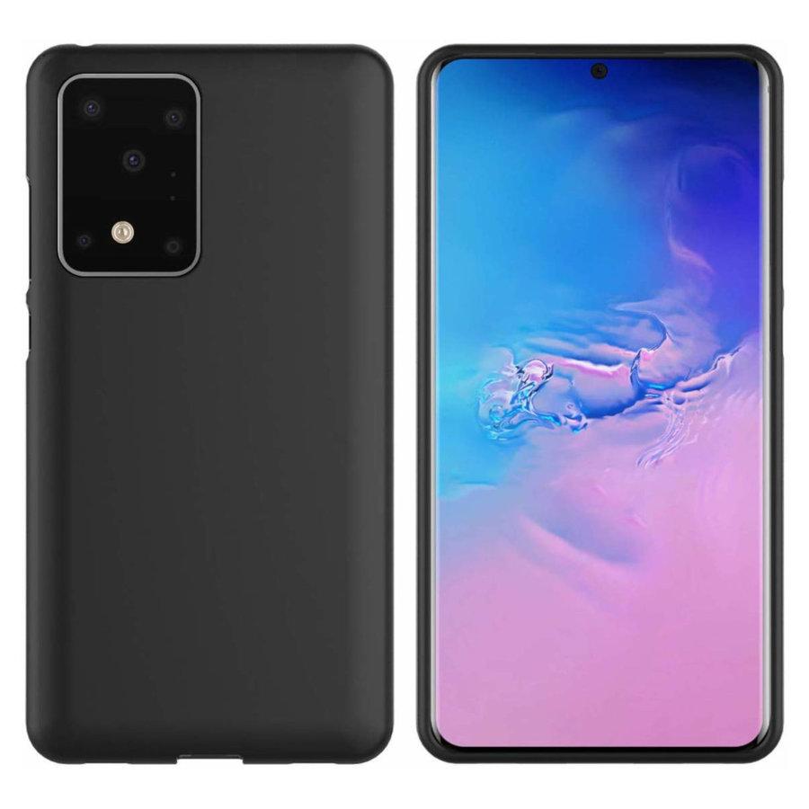 Hoesje CoolSkin Slim TPU Case voor Samsung S20 Zwart