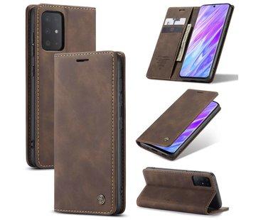 CaseMe Retro Wallet Slim voor S20 Ultra Bruin