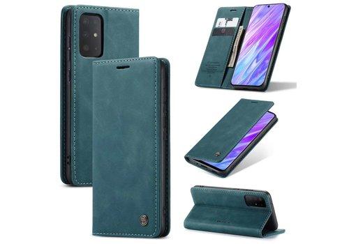 Retro Wallet Slim voor S20 Ultra Blauw