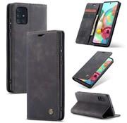 CaseMe Retro Wallet Slim voor A71 Zwart
